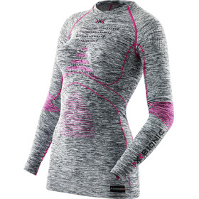 X-Bionic Accumulator EVO Melange UW Naiset alusvaatteet , harmaa/vaaleanpunainen